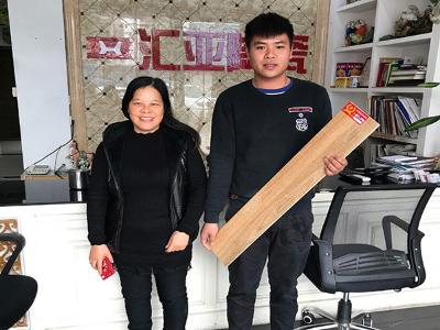 陈小姐表示幸福图瓷砖是值得信赖的合作伙伴