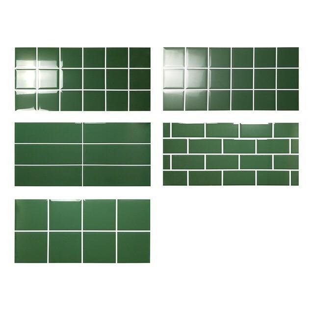 北欧风绿色格子彩砖